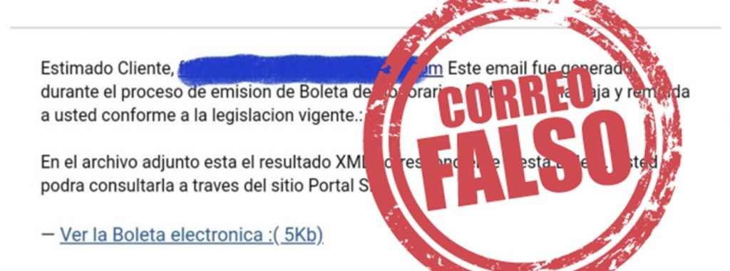 SII detecta circulación de correo electrónico falso