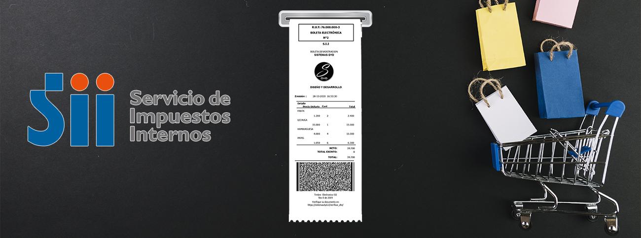 Uso Obligatorio de Boleta Electrónica desde 1 de enero 2021